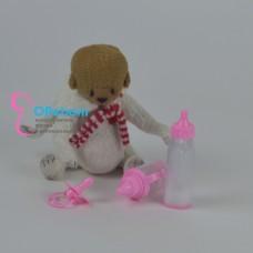 Поильник, бутылочка с молочком, соска для куклы