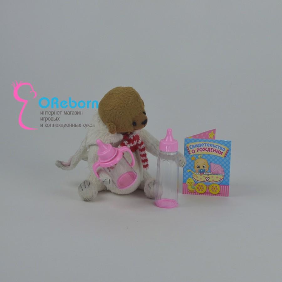 Свидетельство о рождении, бутылочка и поильник недорого для куклы реборн
