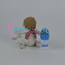 Бутылочка погремушка с силиконовой соской