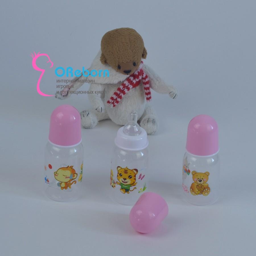 Бутылочка для куклы реборн с силиконовой соской