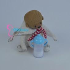 Поильник бутылочка с молочком для реборн