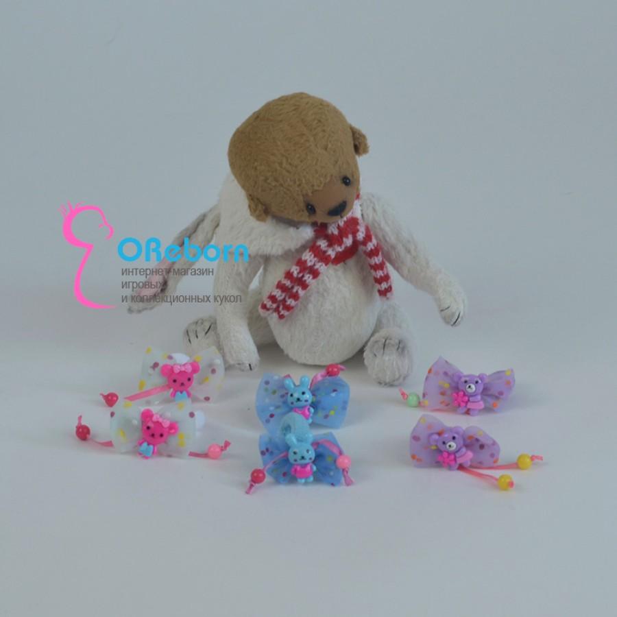 Заколка бантики мишки зайчики для куклы реборн