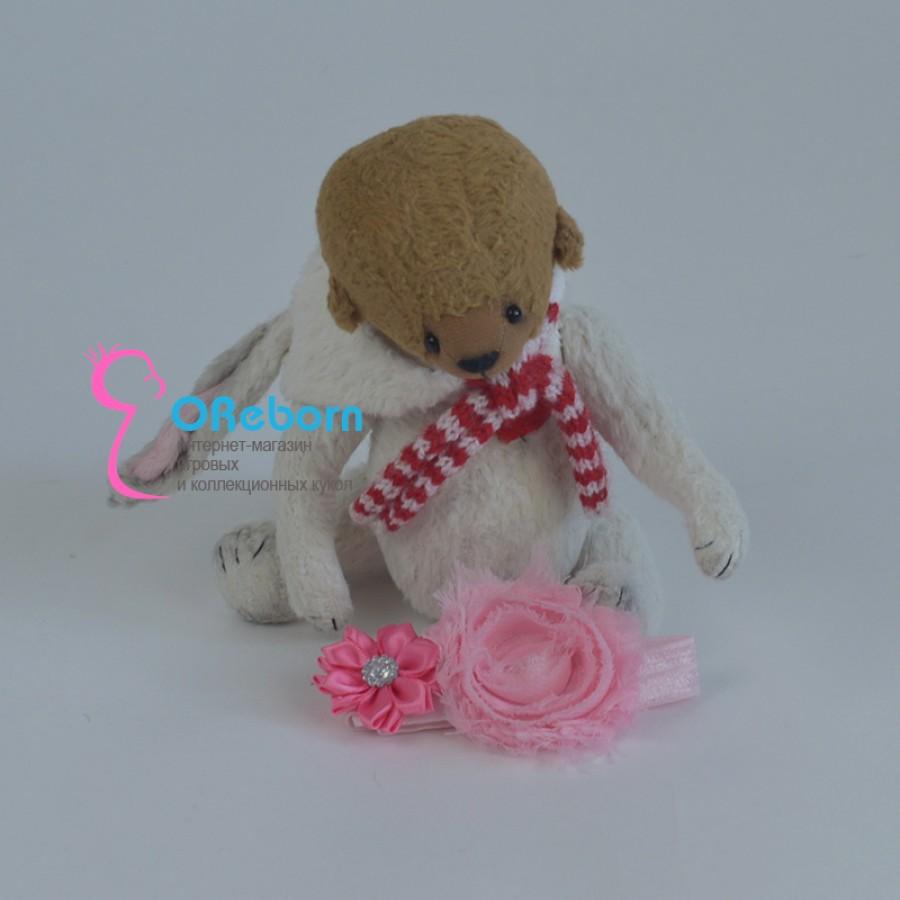 Повязка ободок два цветка для куклы реборн