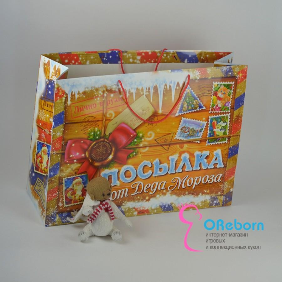 """Новогодняя упаковка для куклы """"Посылка от деда мороза"""""""
