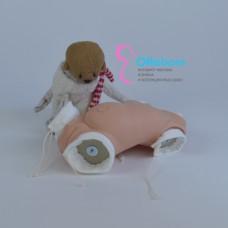Туловище-накладка для реборна девочка