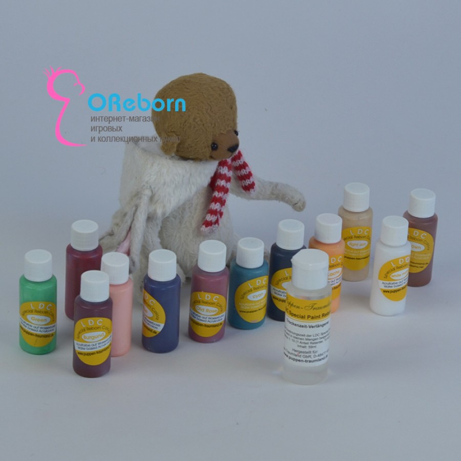 Акриловые краски LDC для росписи реборн и ООАК младенцев