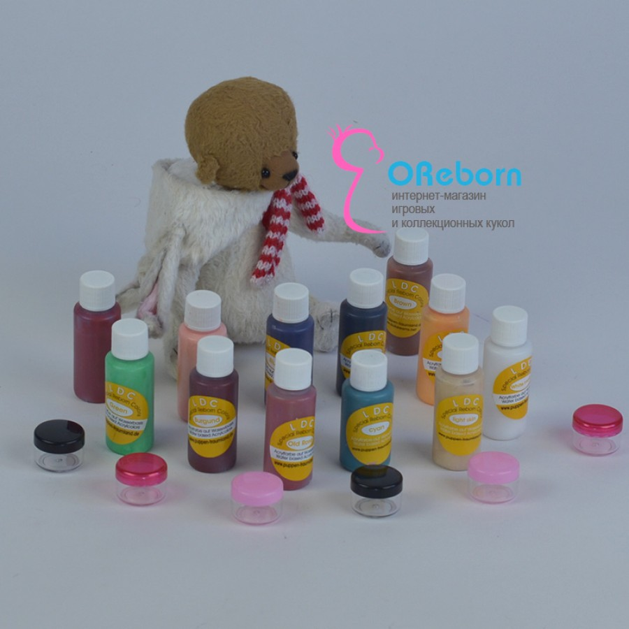 Акриловые краски LDC для росписи реборн и ООАК младенцев тестовые краски