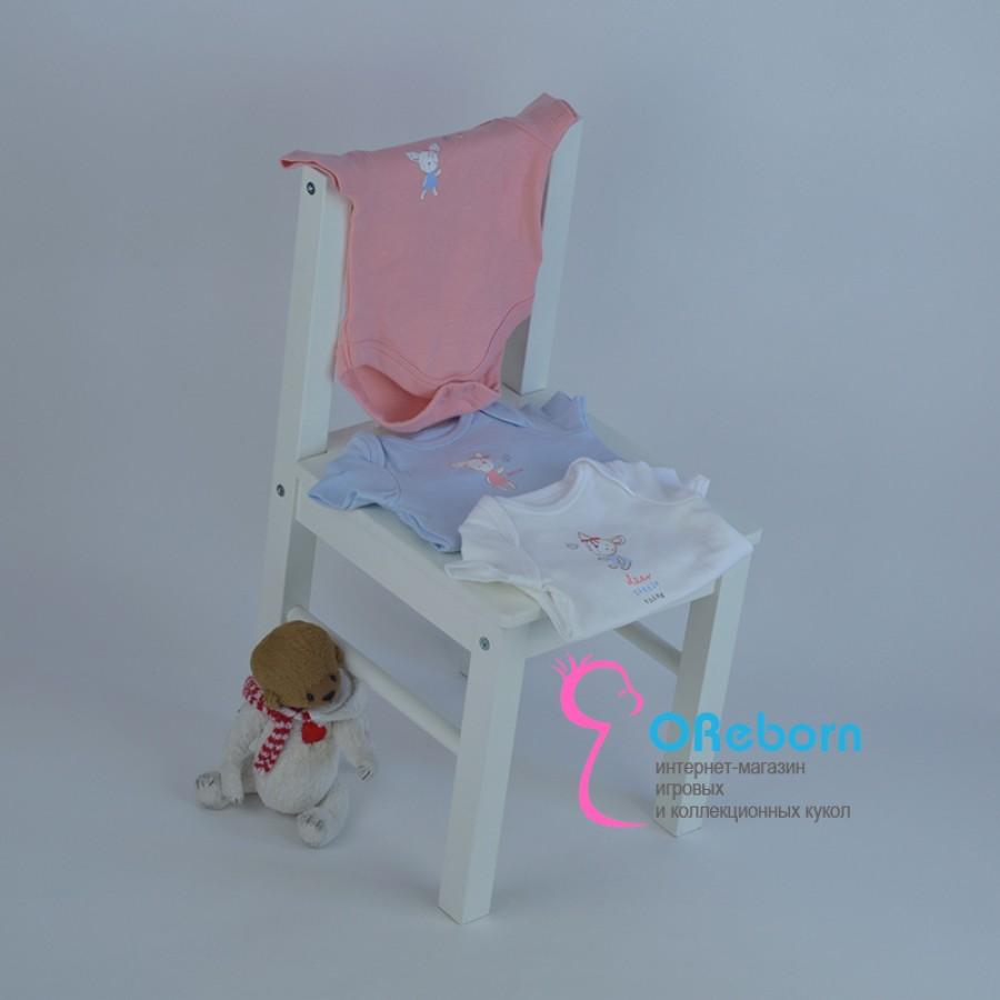 Боди на новорожденного малыша и куклы реборн с оленёнком 3 цвета