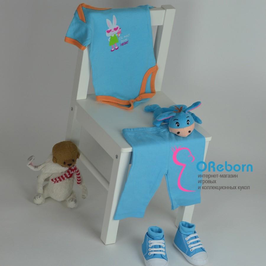 Одежда для новорожденного  и куклы реборн Заяц в очках