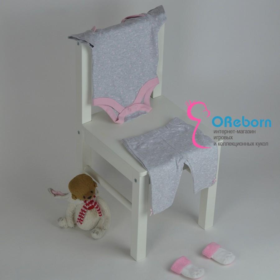 Боди и брюки для новорожденной девочки и реборн с принтом звёздочек