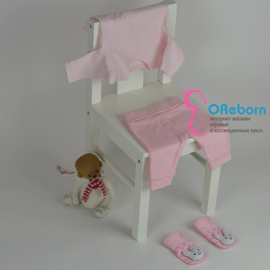 Хлопковая одежда для девочки и куколки реборн боди и брюки