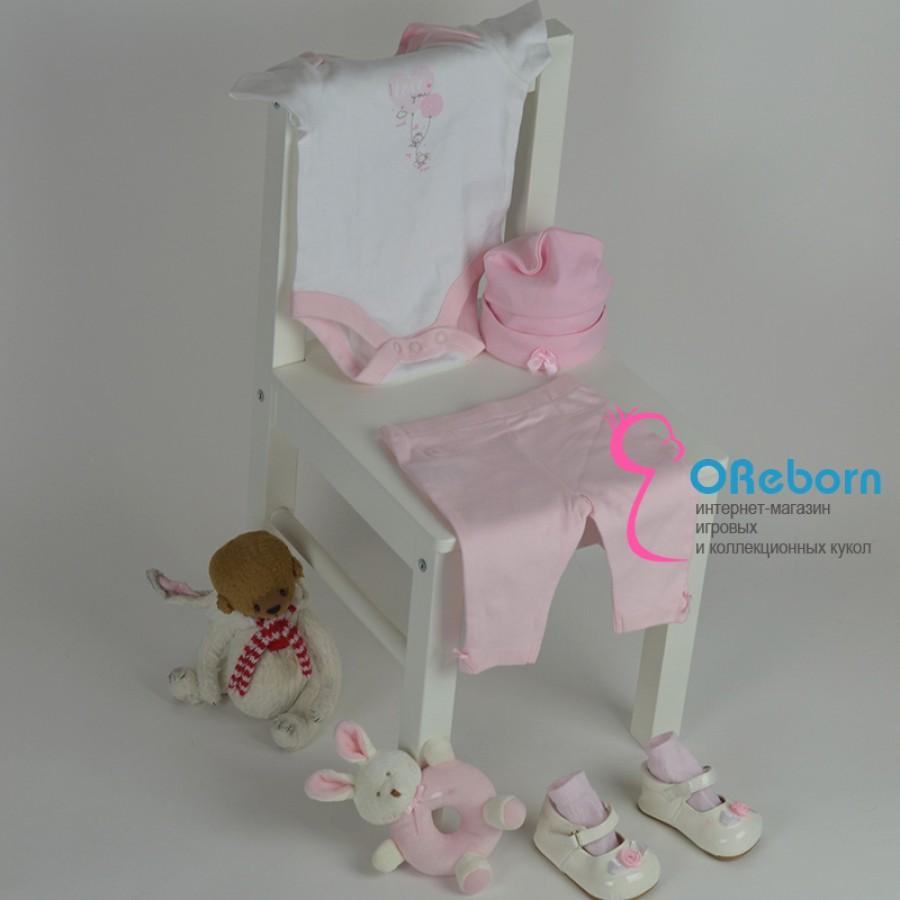 Боди и брюки для новорожденной девочки и куклы реборн