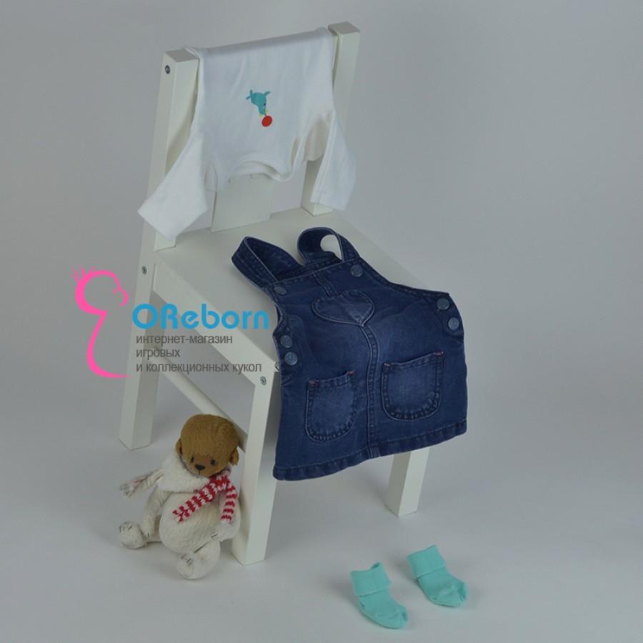 Сарафан для девочки и куклы реборн с боди