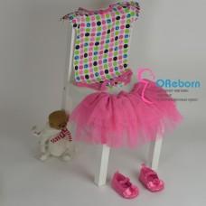 Юбка tutu c боди, туфельки Hello Kitty комплект