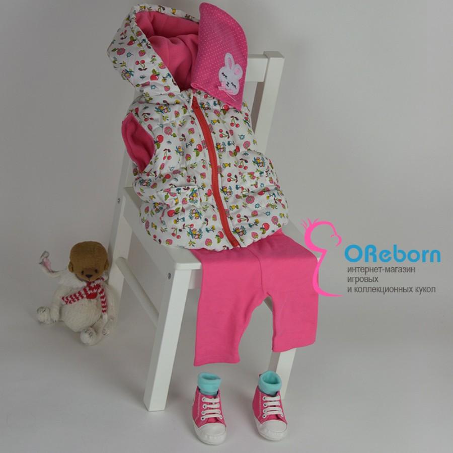 Комплект одежды для девочки и куклы реборн девочки 8 предметов