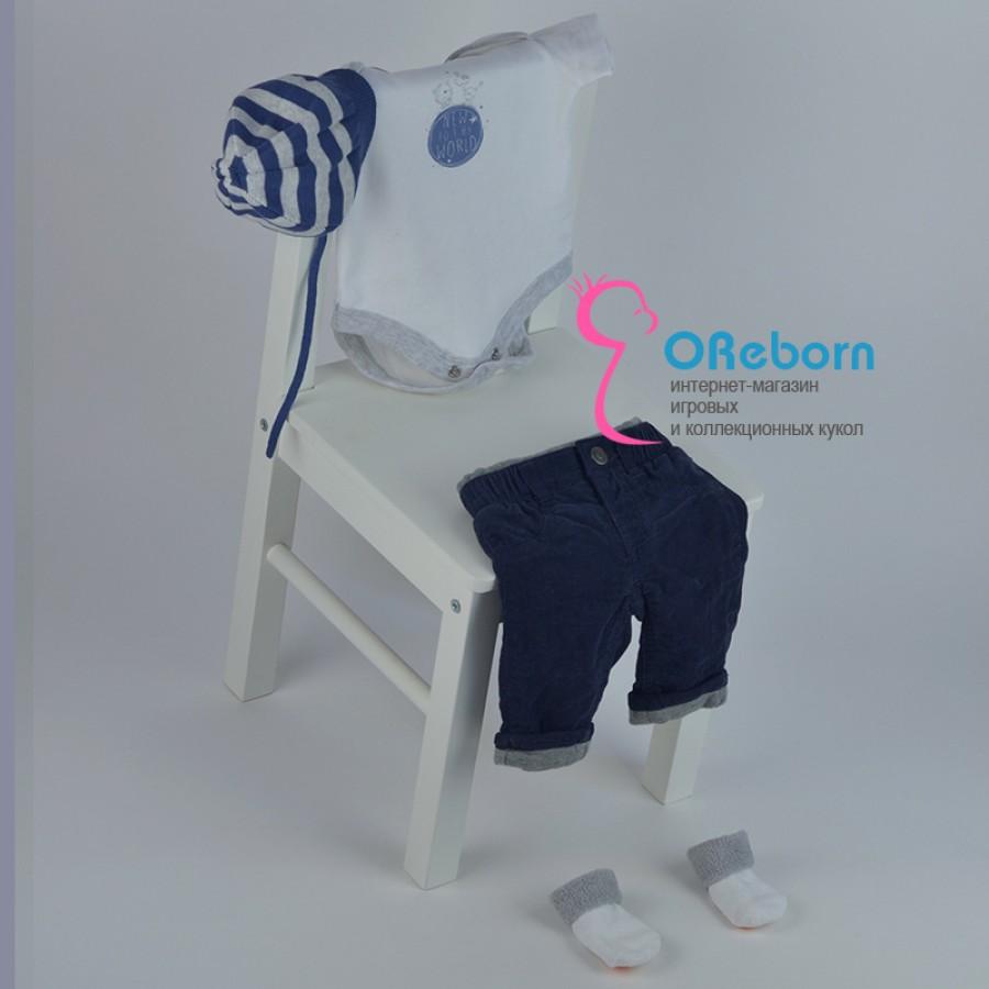 Брюки джинсы для мальчика и куклы реборн с боди