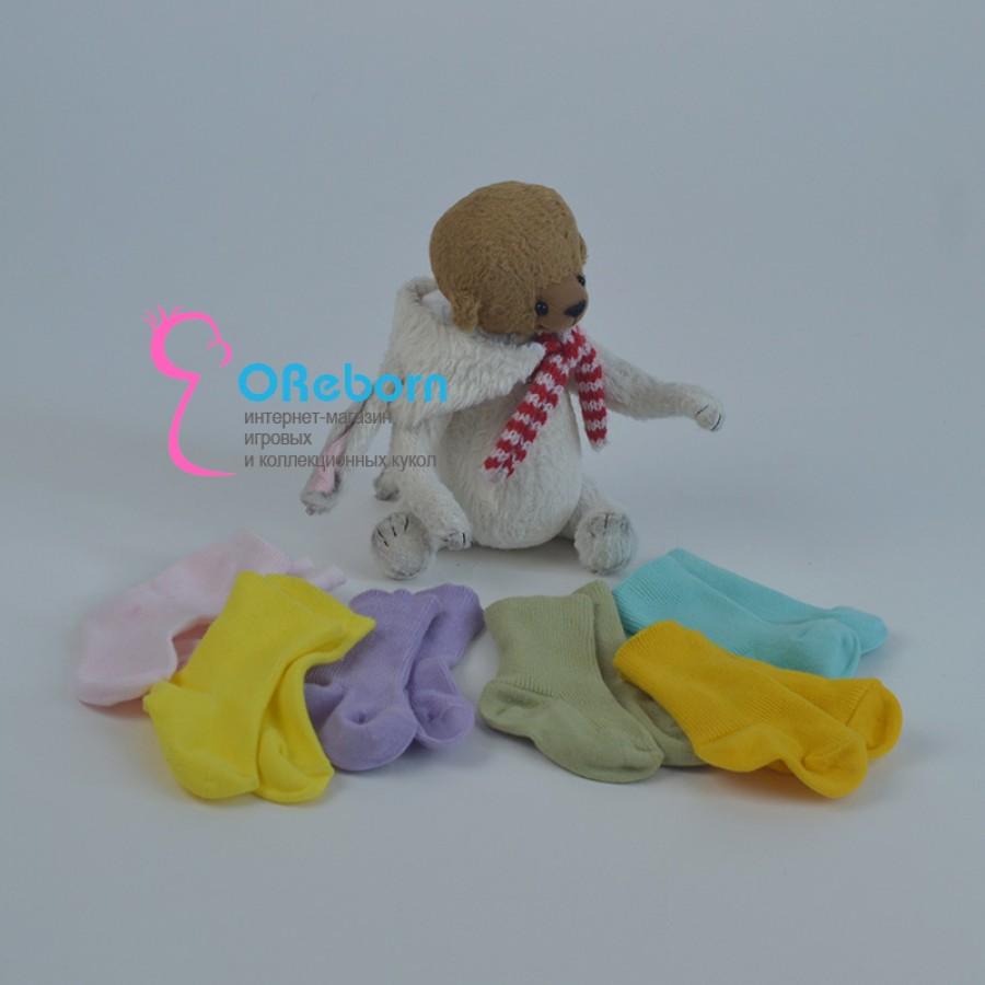 Однотонные носки для куклы реборн