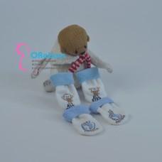 Махровые голубые носочки