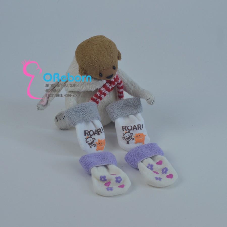 Махровые носочки для куклы реборн, новорождённого