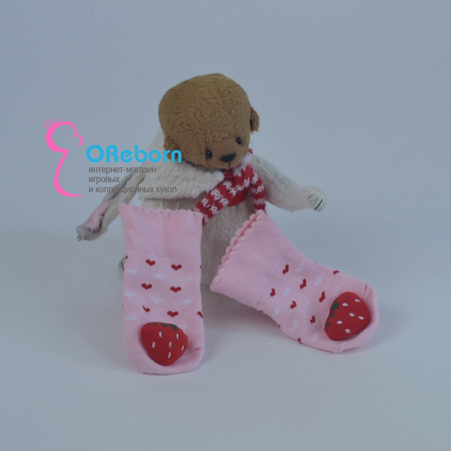 Хлопковые стрейчевые носочки для  реборн, новорожденного
