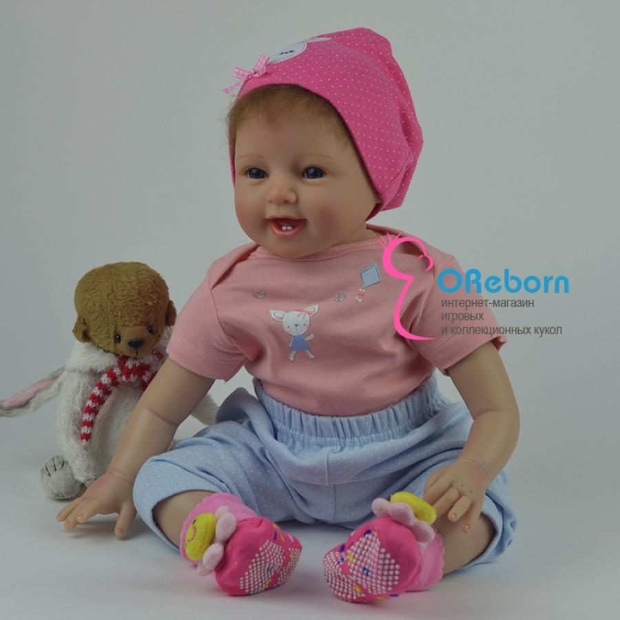 Кукла реборн с зубками девочка