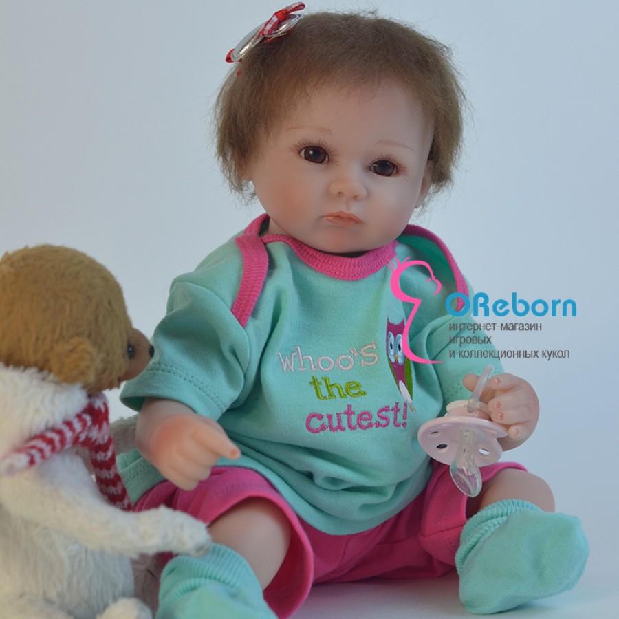 Маленькая кукла реборн девочка  (арт.014-1)
