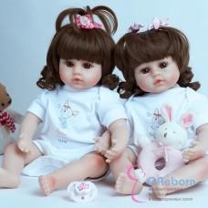 Куклы реборн двойняшки (арт.016-9)