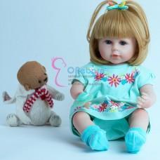 Кукла реборн с  светлыми волосами (арт.017-2)