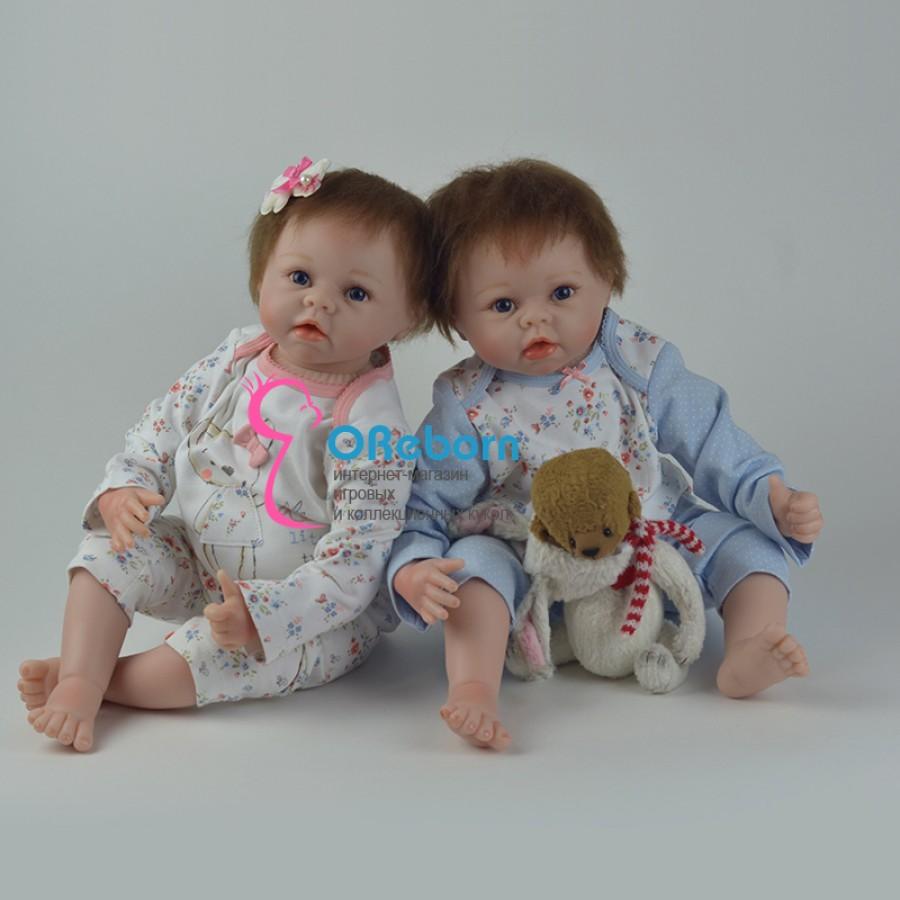 Куклы реборн близнецы с мягконабивным телом