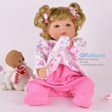 Силиконовый  реборн девочка с кудрявыми волосами (арт.02-10)