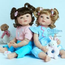 Силиконовые куколки реборн близнецы (арт.02-15)