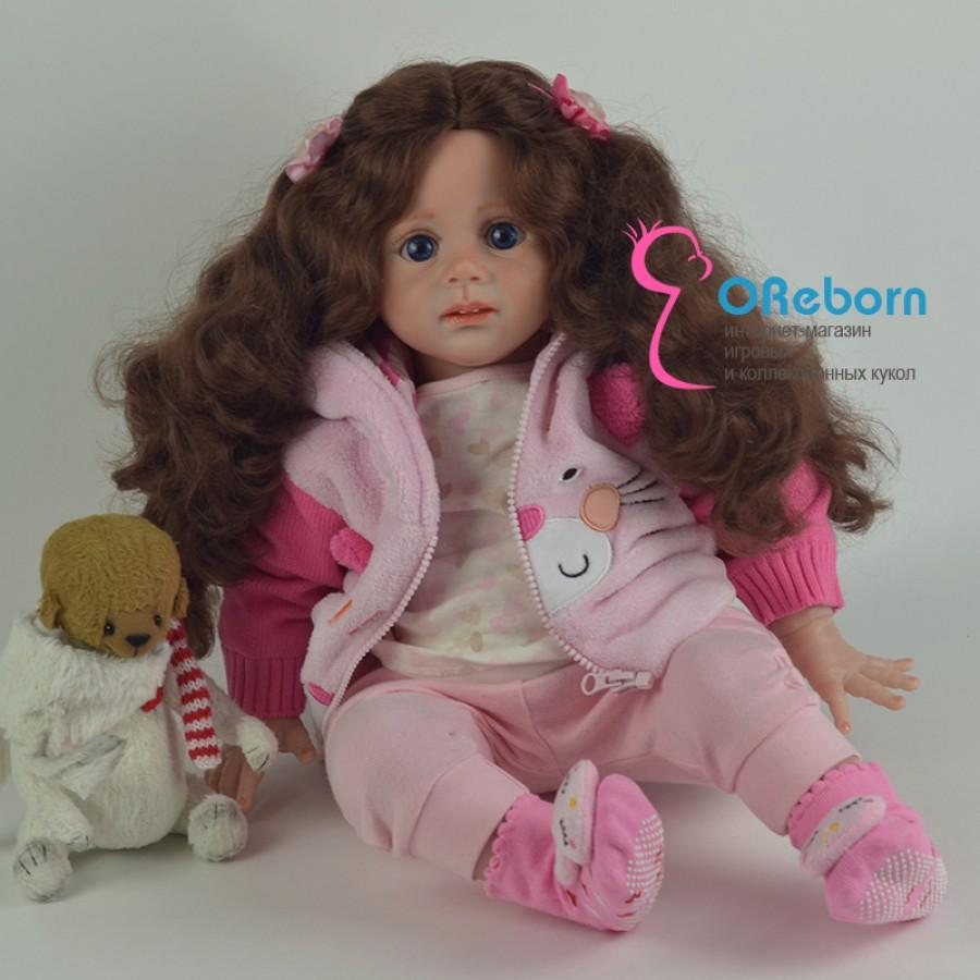 Красотка. Кукла реборн девочка с длинными волосами