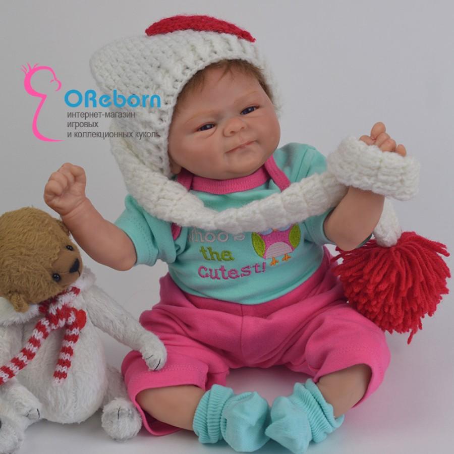 Кукла младенец реборн девочка с мягконабивным телом  (арт.07-2)