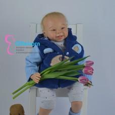 Авторская, игровая кукла реборн мальчик 63 см - ПРОДАН