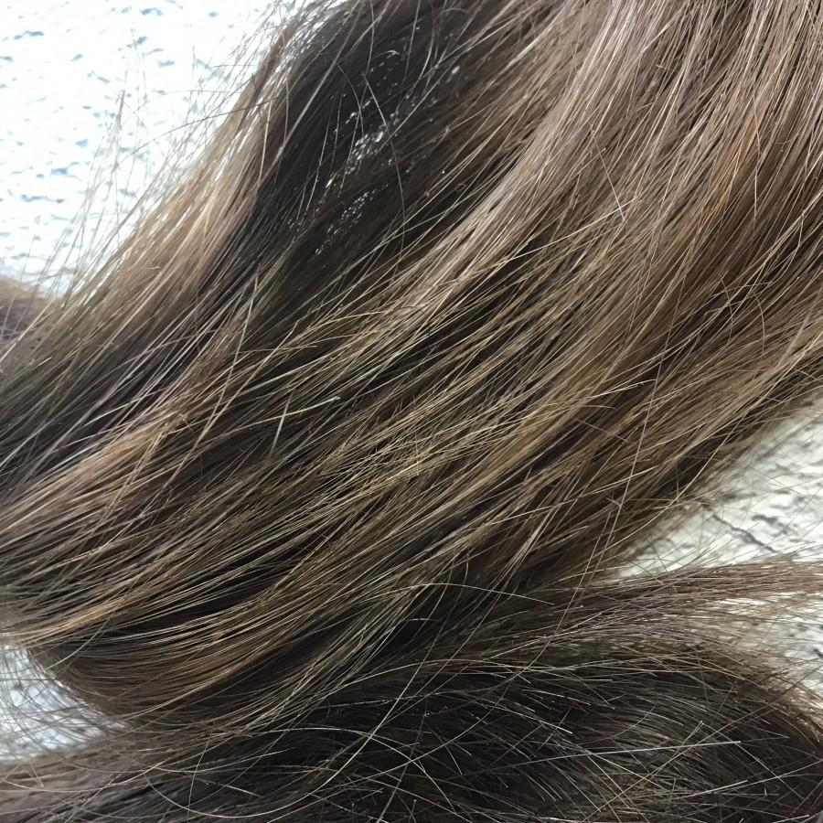 Натуральные волосы коричневый 39 см срез. Славянские натуральные волосы для кукол реборн