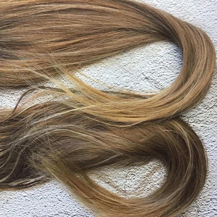Натуральные волосы русый  54 см. Славянские натуральные волосы для кукол реборн