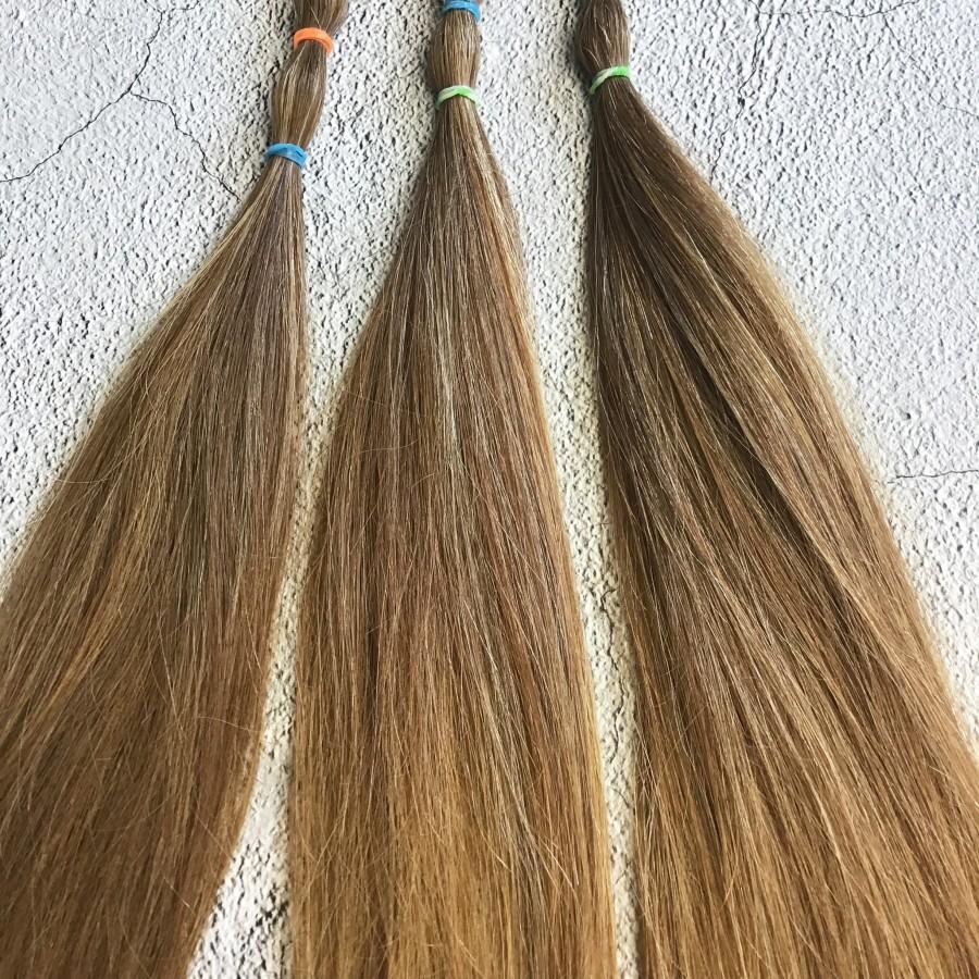 Натуральные волосы русый  40 см. Славянские натуральные волосы для кукол реборн и тильда