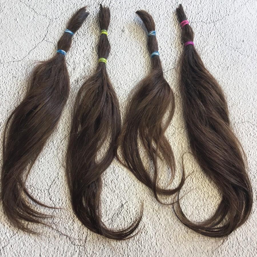 Натуральные волосы коричневый 30 см срез. Славянские натуральные волосы для кукол реборн